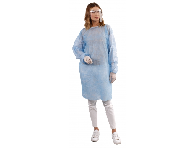 REUSABLE  SURGICAL GOWN OVERALL WHITE POLYPROPYLENE INDIVIDUAL PACK TOP QUALITY